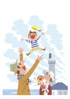 灯台と家族