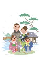 初詣に来た家族