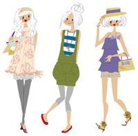 女性3人 22276007529| 写真素材・ストックフォト・画像・イラスト素材|アマナイメージズ