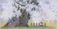 千年桜と六地蔵