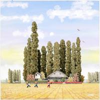 晩秋の散居村 22276007588| 写真素材・ストックフォト・画像・イラスト素材|アマナイメージズ