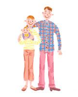 家族イメージ イラスト 22283000070| 写真素材・ストックフォト・画像・イラスト素材|アマナイメージズ