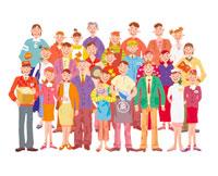 街で働く人々 イラスト 22283000112| 写真素材・ストックフォト・画像・イラスト素材|アマナイメージズ