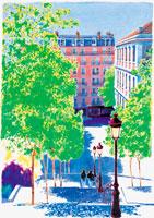 外国の町 水彩画 22303000003| 写真素材・ストックフォト・画像・イラスト素材|アマナイメージズ