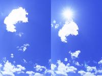 雲から出る太陽