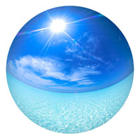 青い海と太陽