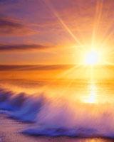 波と朝日 22320017875| 写真素材・ストックフォト・画像・イラスト素材|アマナイメージズ