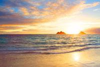 朝日とモクルア島