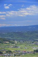 砥石城跡から望む富士山などの山並み