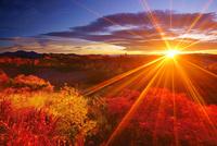 乗鞍岳位ヶ原の紅葉と穂高連峰と槍ヶ岳と朝日 22320040637| 写真素材・ストックフォト・画像・イラスト素材|アマナイメージズ