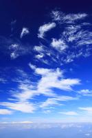 剣ケ峰から望む北方向の雲海とすじ雲