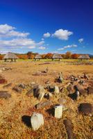 秋の大湯環状列石 22320040984| 写真素材・ストックフォト・画像・イラスト素材|アマナイメージズ