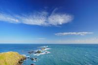 襟裳岬の岩礁と秋空 22320041571  写真素材・ストックフォト・画像・イラスト素材 アマナイメージズ