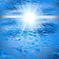 ガラスブロックと光