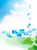 水面と青空夏イメージ