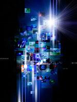 ビジネスウイメージと青い光線 22323001019| 写真素材・ストックフォト・画像・イラスト素材|アマナイメージズ