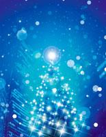 クリスマスツリーイメージ 青 22323001134| 写真素材・ストックフォト・画像・イラスト素材|アマナイメージズ
