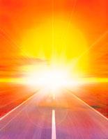 水平線と日の出 CG