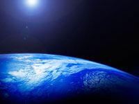 人工衛星から見た地球イメージ