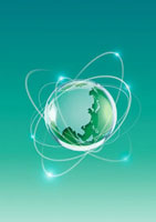 ネットワークと地球のイメージ