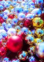 キラキラ光る金属のボール