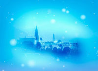 西欧の街並とクリスマスイメージ 22323001661| 写真素材・ストックフォト・画像・イラスト素材|アマナイメージズ