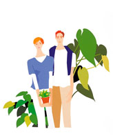 若いカップル イラスト