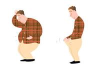 メタボ男性とダイエット後の男性