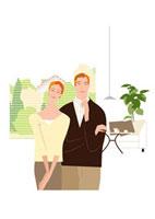 リビングの中年夫婦