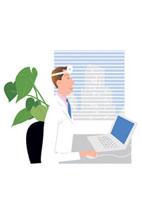 診断する医者
