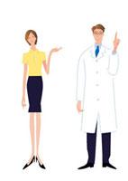 病院の女子職員と医者