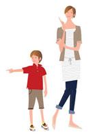 母と男の子