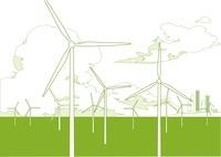 風力発電と雲