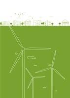 風力発電と街並み