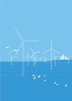エコロジー、風力発電と街