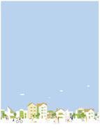 住宅街の街並みと人々 22342000216| 写真素材・ストックフォト・画像・イラスト素材|アマナイメージズ