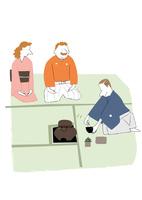 海外の人と友達になろう。茶会 22342000259| 写真素材・ストックフォト・画像・イラスト素材|アマナイメージズ