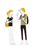 外国人の男女の会話 22342000263| 写真素材・ストックフォト・画像・イラスト素材|アマナイメージズ