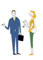 日本のビジネスマンと外国の女性の会話 22342000269| 写真素材・ストックフォト・画像・イラスト素材|アマナイメージズ