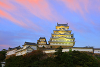 夕焼け雲 ライトアップ 姫路城 白鷺城 大天守 世界文化遺産遺産