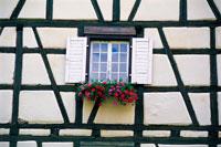 窓辺の花飾り