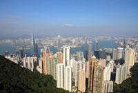 ヴィクトリアピークからの香港の風景