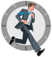 走るビジネスマン CG 22370000156| 写真素材・ストックフォト・画像・イラスト素材|アマナイメージズ