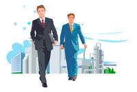 ビジネスマンと工場 CG 22370000163| 写真素材・ストックフォト・画像・イラスト素材|アマナイメージズ