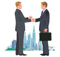 握手をするビジネスマン 22370000222| 写真素材・ストックフォト・画像・イラスト素材|アマナイメージズ