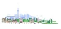 街とスカイツリー 22370000258| 写真素材・ストックフォト・画像・イラスト素材|アマナイメージズ