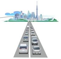 スカイツリーと高速道路 22370000261| 写真素材・ストックフォト・画像・イラスト素材|アマナイメージズ