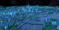 湾岸スマートシティ夜 22370000304  写真素材・ストックフォト・画像・イラスト素材 アマナイメージズ