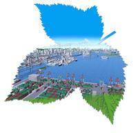 安心安全の湾岸流通イメージ 22370000338| 写真素材・ストックフォト・画像・イラスト素材|アマナイメージズ