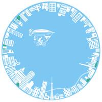 円形シルエットの街 22370000385| 写真素材・ストックフォト・画像・イラスト素材|アマナイメージズ